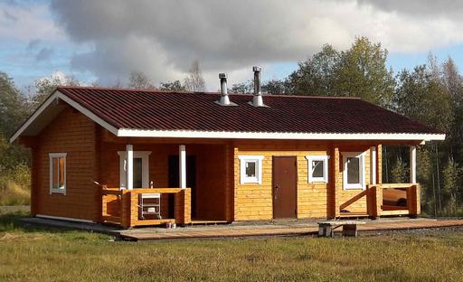 Русская баня на дровах.